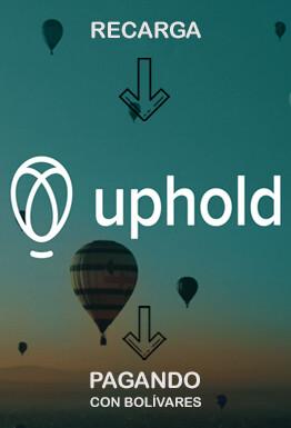 Recarga saldo UpHold