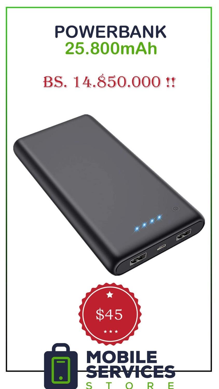 PowerBank 25.800mAh - Bs. 14.850.000