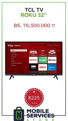 Smart Tv TCL Roku 32'' (Netflix Gratis!) - Bs. 76.500.000