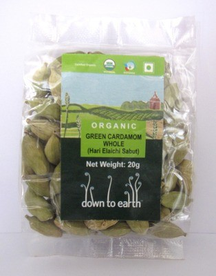 Down To Earth Green Cardamom Whole - 20g