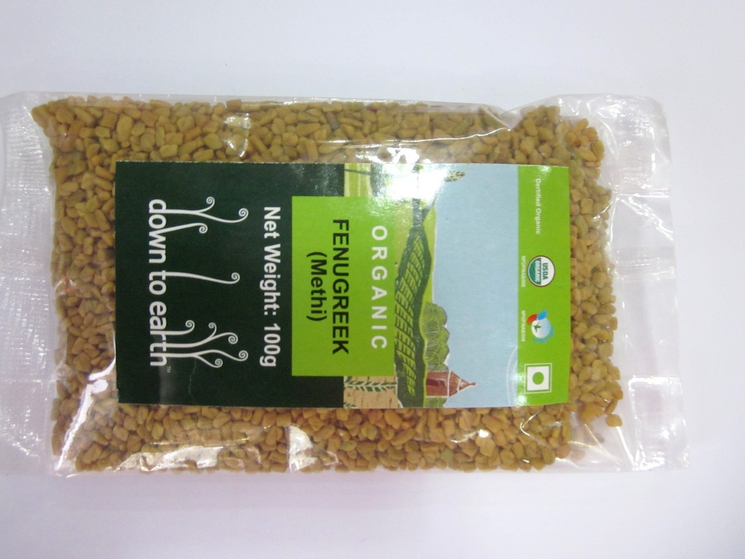 Down To Earth Fenugreek (Methi) - 100g