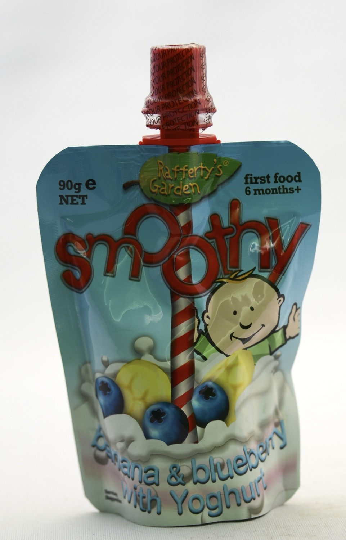 Rafferty's Garden Smoothy banana blueberry with yoghurt 90g