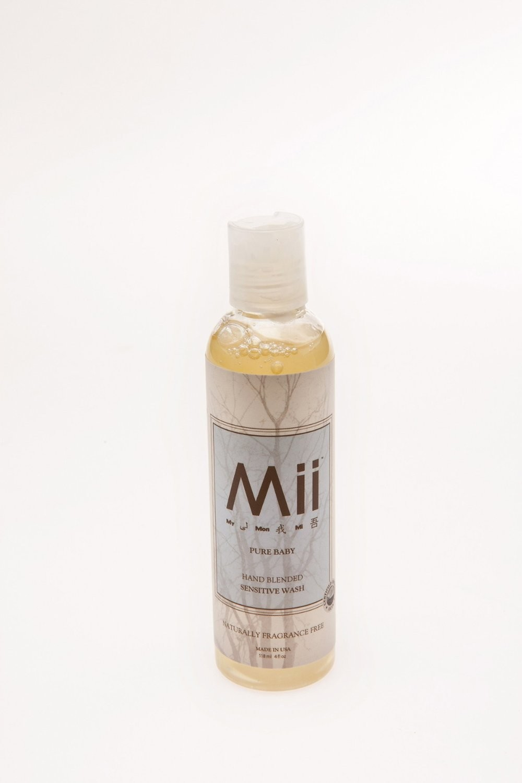 Mii PURE BABY  SENSITIVE WASH- FRAGRANCE FREE - 118gm