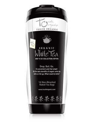Touch Organic White Tea Tumbler - 16 Tea Bags inside