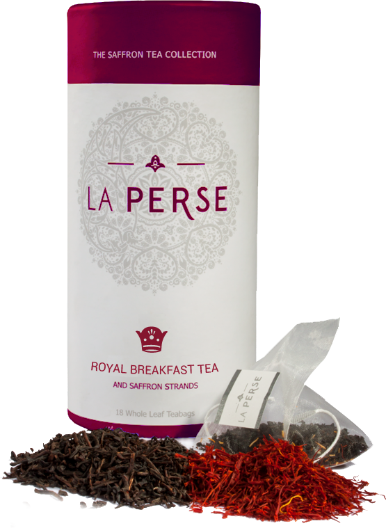 La Perse Earl Grey Tea and Saffron Strands - 18 Tea Bags