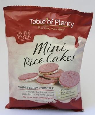 Table Of Plenty Mini Rice Cakes Triple Berry - 60gm