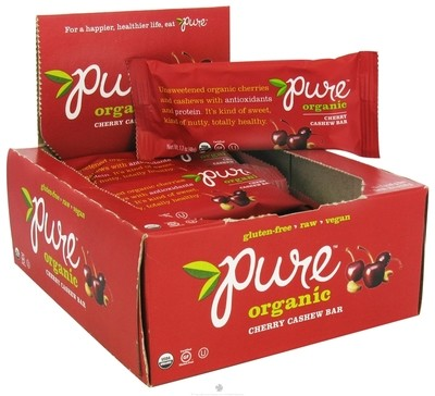 Pure Organic Cherry Cashew Bar - 48g