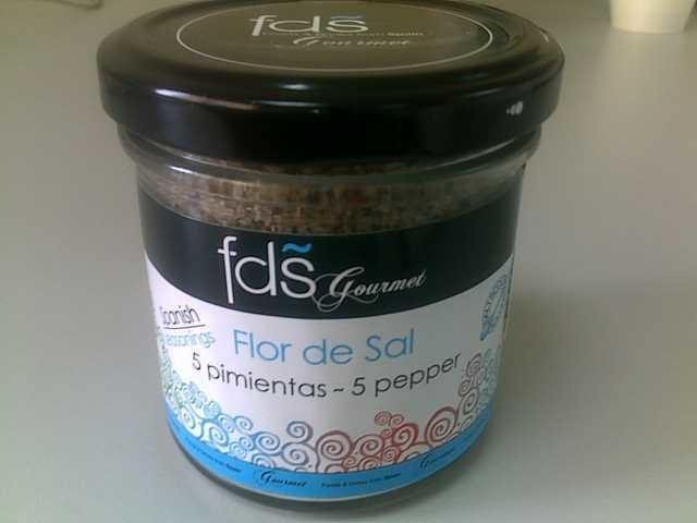 Flor de sal- 5 Pepper - 125 gns