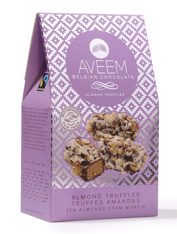 Aveem Belgian Chocolate, Almond Truffles - 100 GM