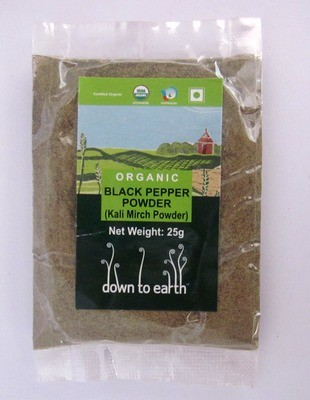 Down To Earth Black Pepper Powder - 25g