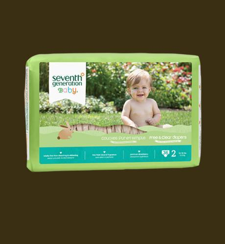 Seventh Generation Free & Clear Diapers Stage2 - 36pcs
