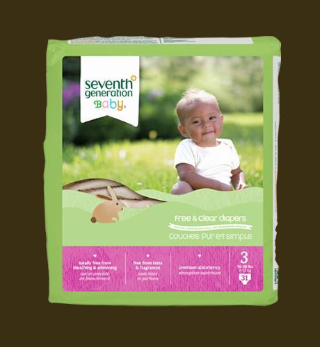 Seventh Generation Diapers (Stage 3) - 31 pcs