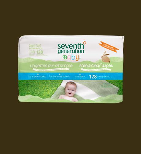 Seventh Generation Free and Clear Wipes - 128 wipes