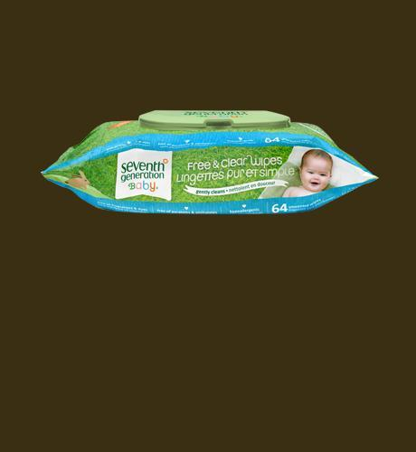Seventh Generation Free and Clear Wipes - 64 wipes
