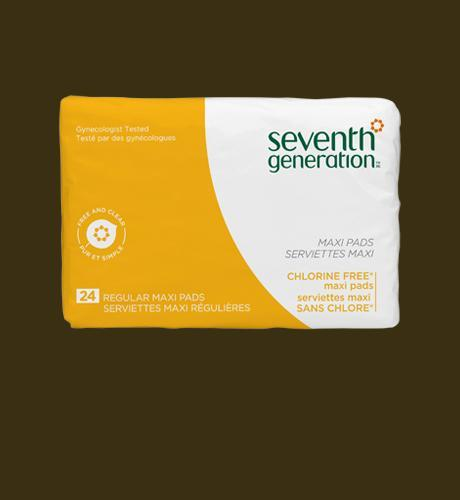 Seventh Generation Regular Maxi Pads - 24 pads