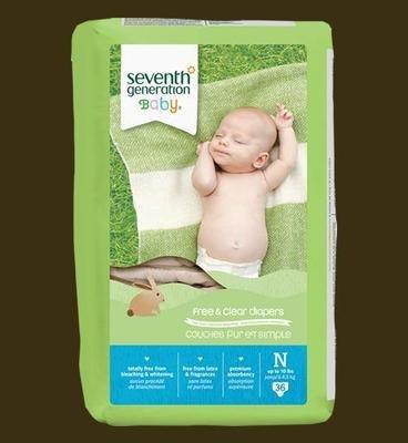 Seventh Generation Diapers (NewBorn) - 36 pcs