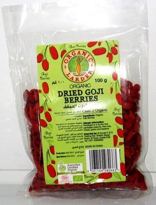 Organic Larder Dried Goji Berries - 100g
