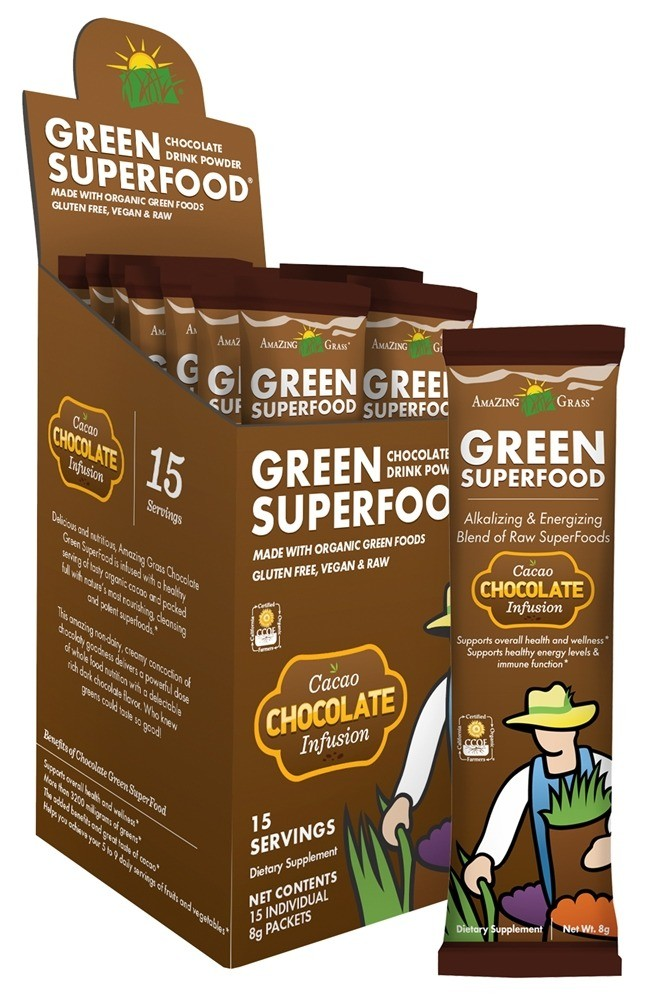Amazing Grass Green Superfood Cacao Chocolate Infusion- 15 pack