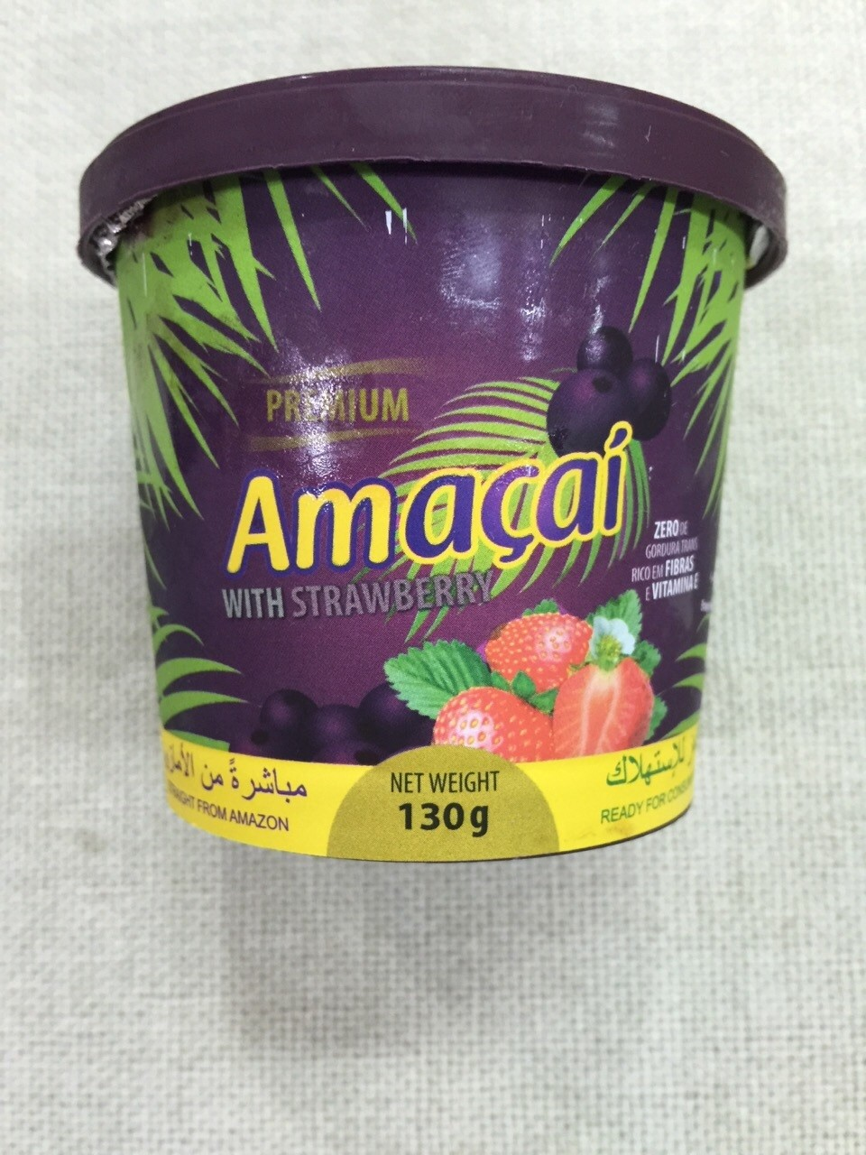 AMACAI ACAI MIXED WITH STRAWBERRY 130G