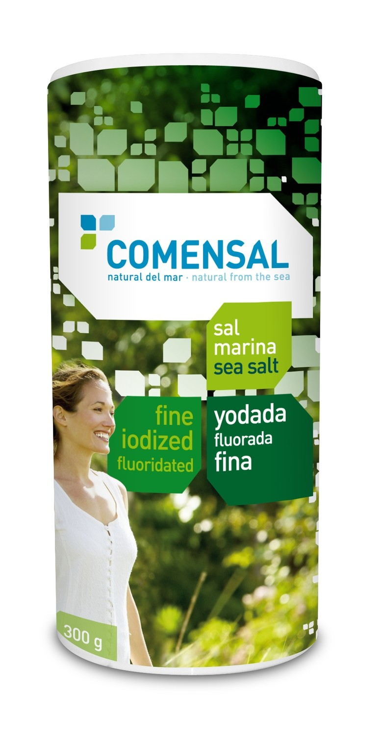 Commensal Drum shaker- Fine sea salt- Iodized and fluoridated - 300 gms