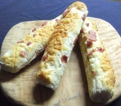 Gluten free long rolls ( Cheese and bacon)