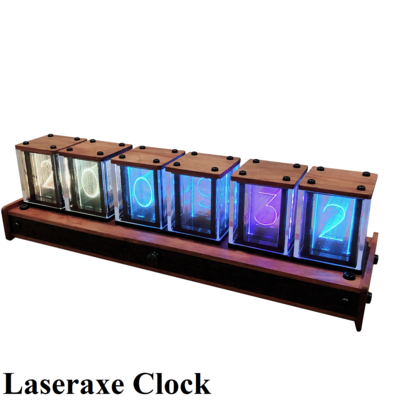 Laseraxe Clock-quasi glow tube clock