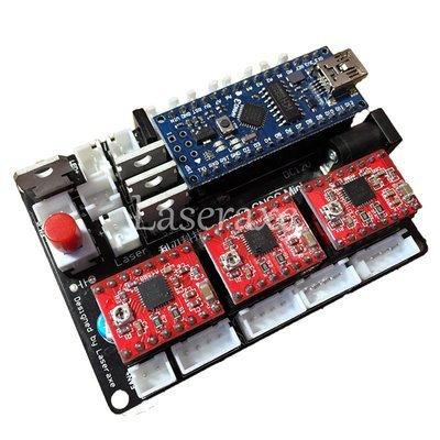 Laseraxe USB CNC 3 Axis 2 Phase 4 Wire Stepper Motor Controller Driver Board CNC Laser Engraving Machine Mainboard Support CAD Module DXF DWG