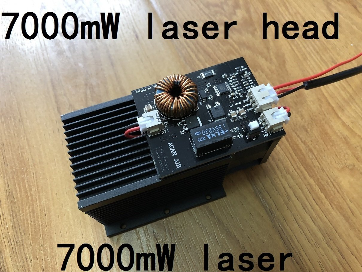 Laseraxe Laser Module Diode Generator With Heatsink for Laser Engraver Machine 7000mW