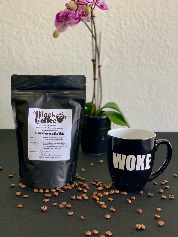 WOKE Mug + 8oz of Coffee Combo