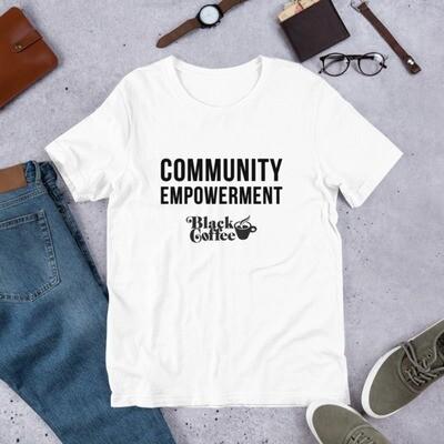 Community Empowerment Black Coffee Short-Sleeve Unisex T-Shirt