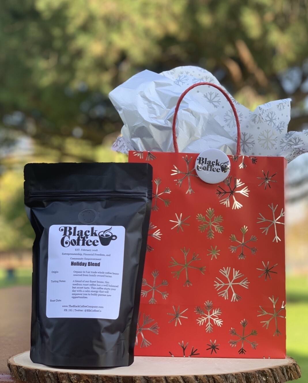 """Black Coffee Co. """"Holiday Blend"""" Organic Coffee Beans"""