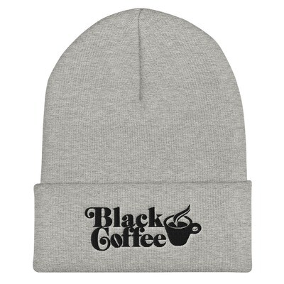 Black Coffee Cuffed Beanie