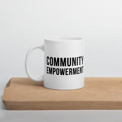Community Empowerment Black Coffee Mug