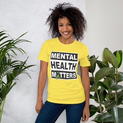 HUMANITY 360: Mental Health Matters: Short-Sleeve Unisex T-Shirt (Yellow)