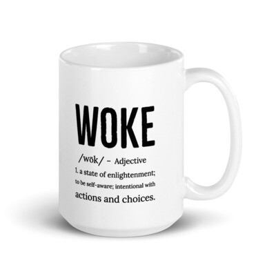 WOKE Definition Mug