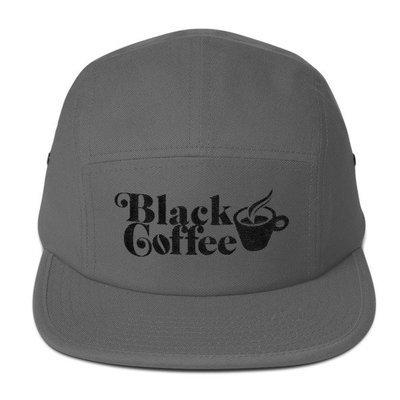 Black Coffee Panel Hat