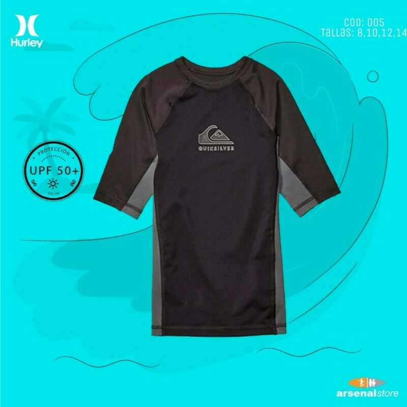 Camiseta Quiksilver Surf Niño