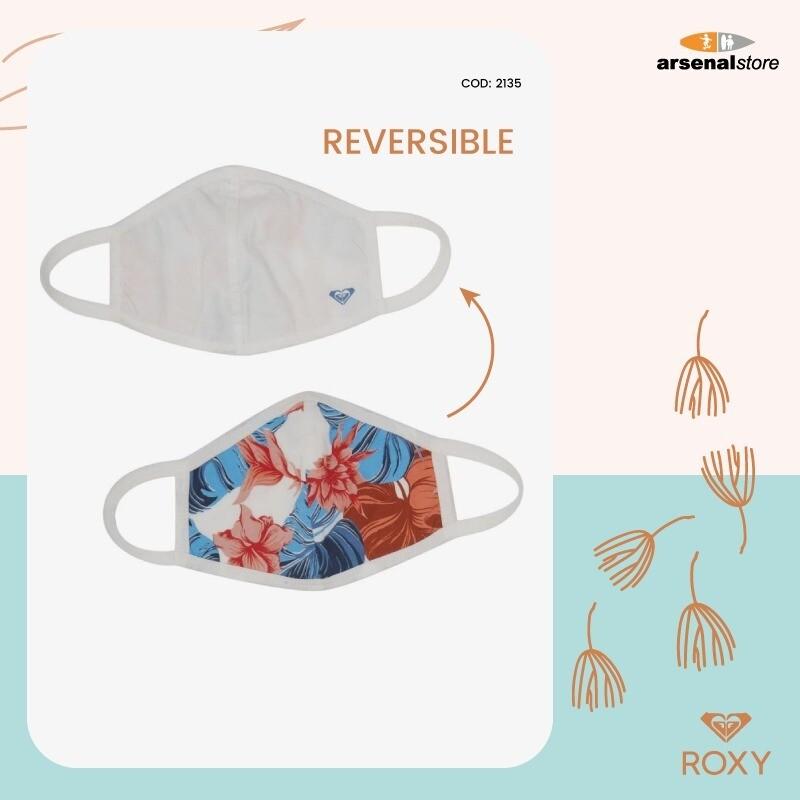 ROXY - Pack de 2 mascarillas faciales reversibles
