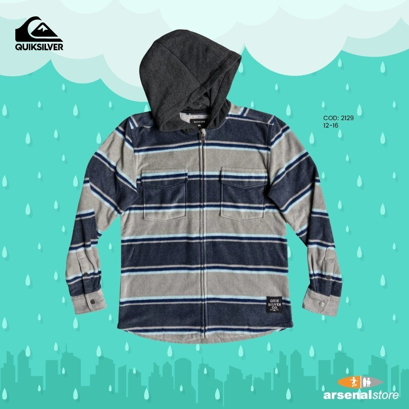 Surf Days Long Sleeve Hooded Shirt Quiksilver