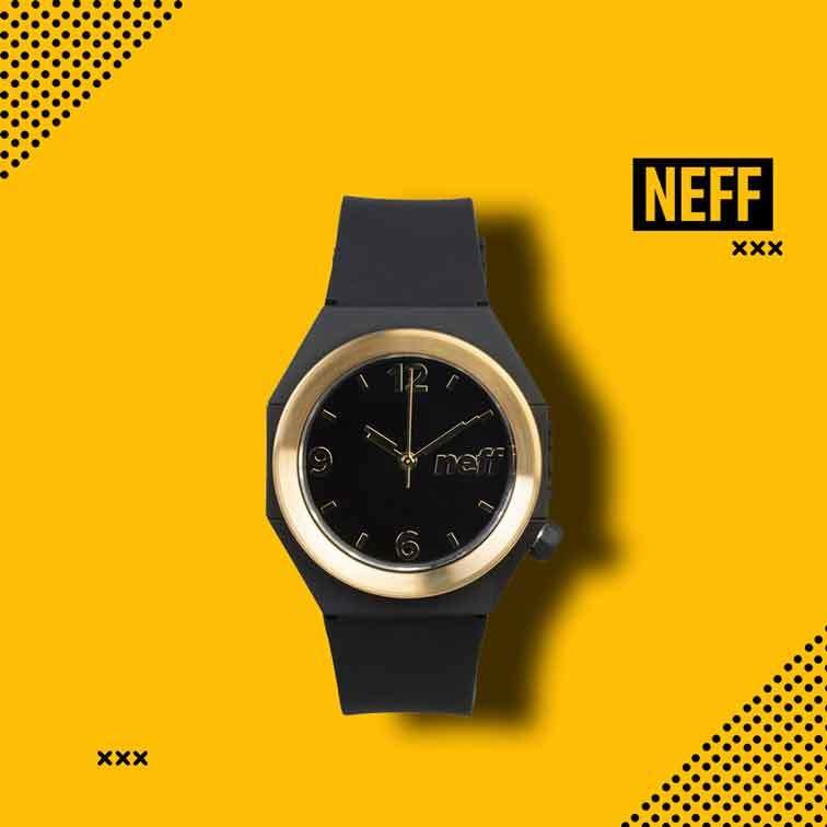Stripe Watch Black/Gold Neff