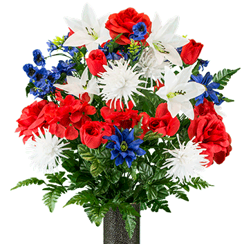 Bouquet #6:  Red, White & Blue Mix