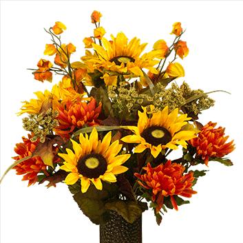 Bouquet #7: Sunflower and Dahlia