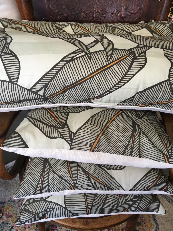 Bruce Goold 'Kentia Palm' screen printed cushions