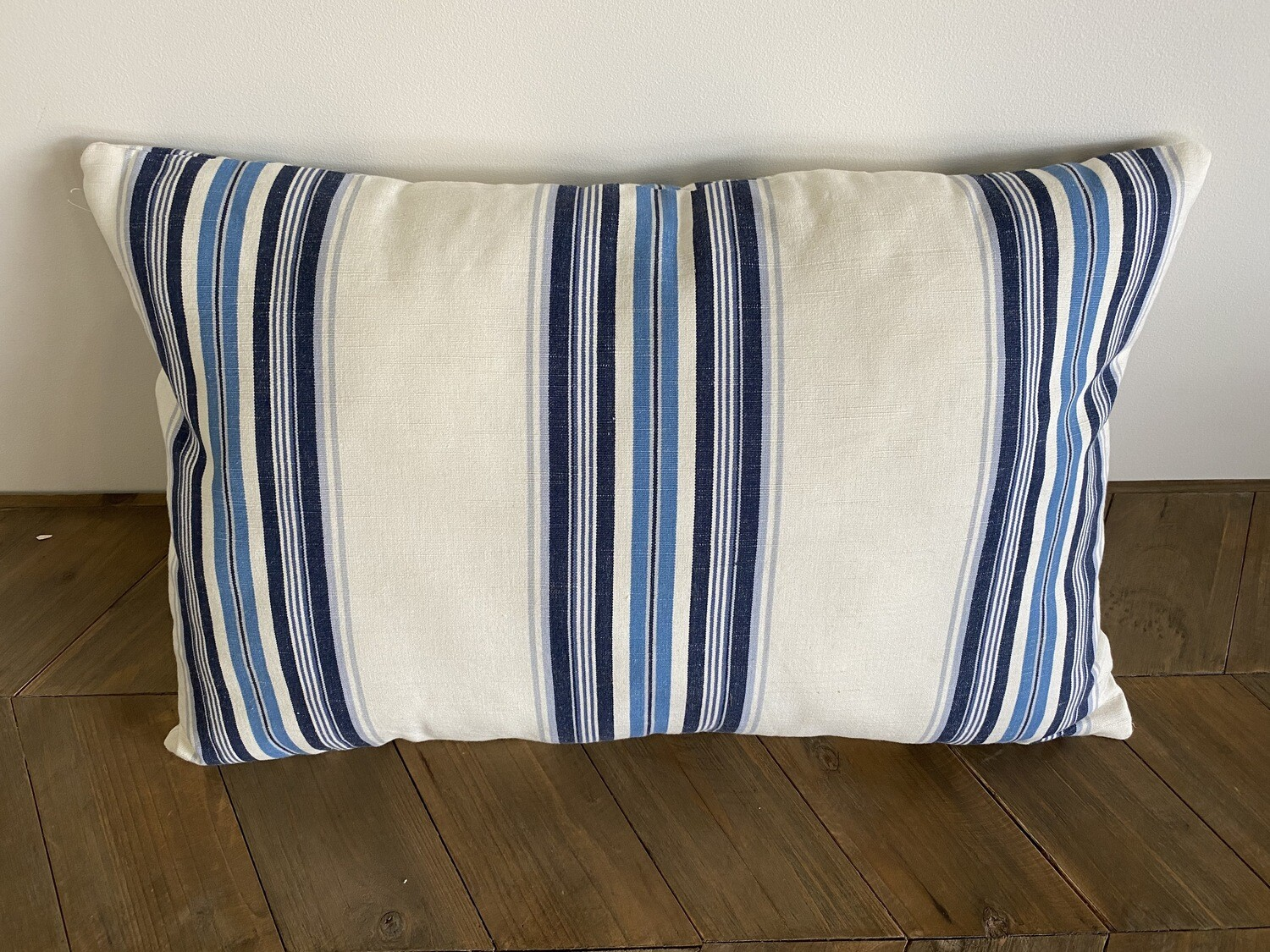 Striped cotton scatter cushion