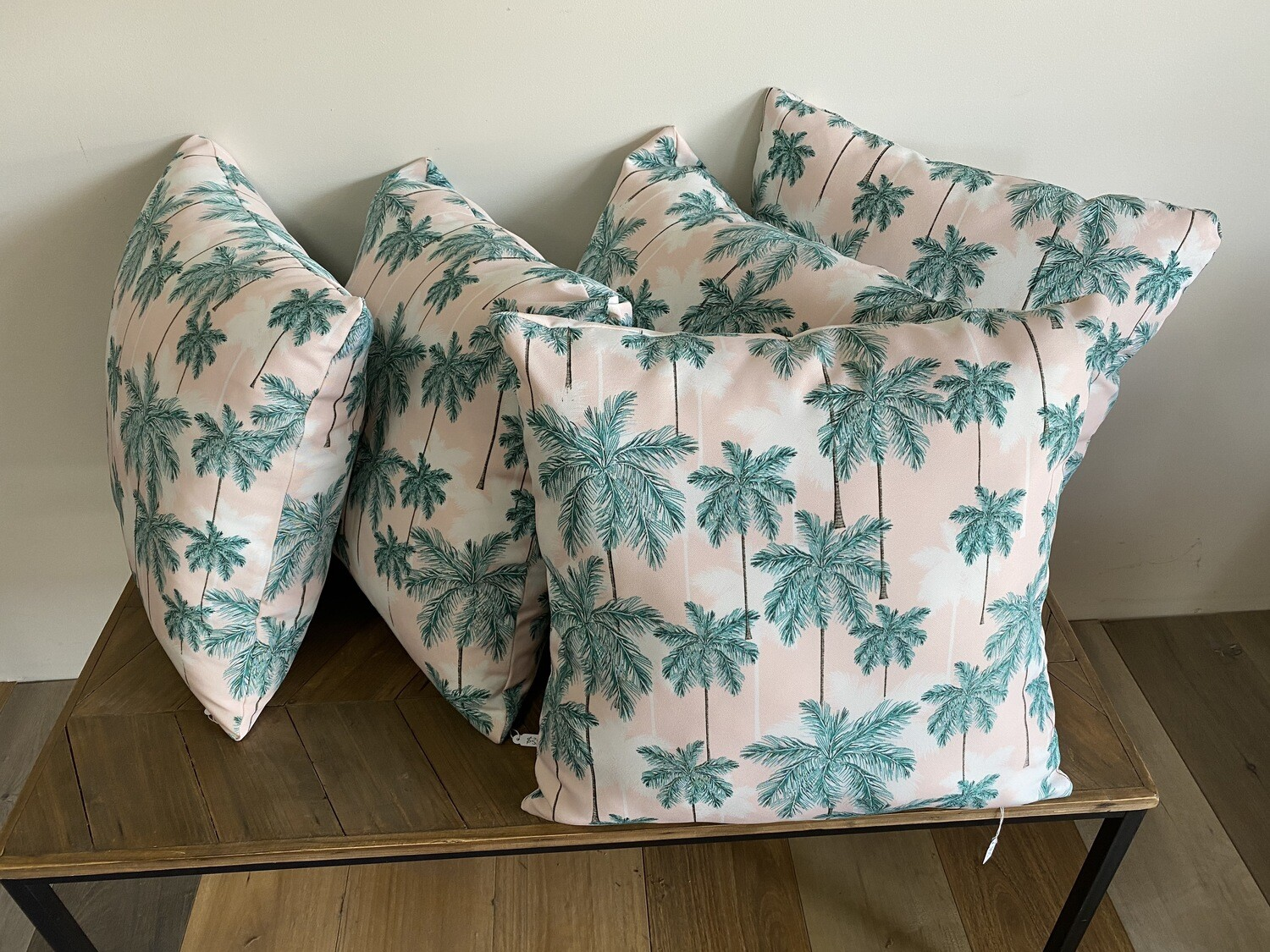 Palm tree printed scatter cushion
