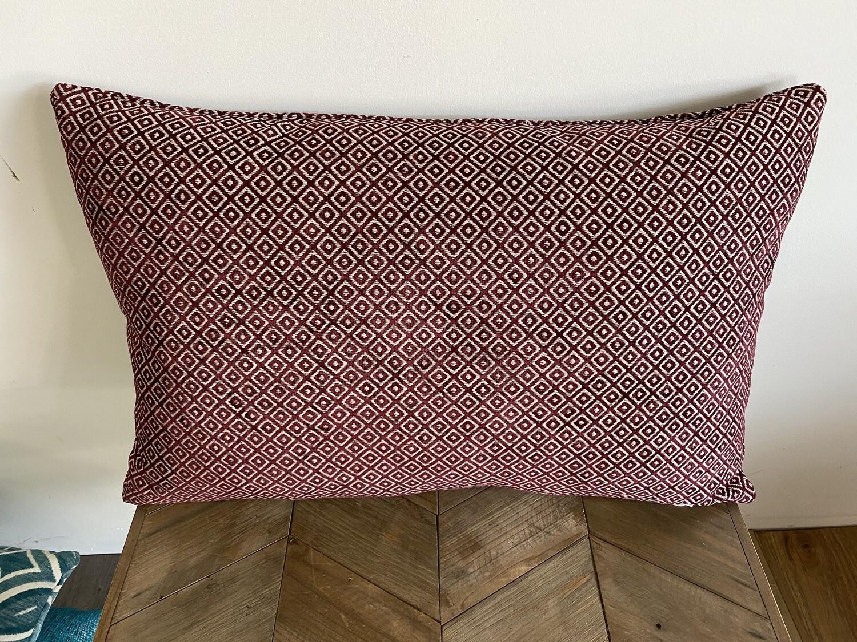 Diamond print scatter cushion