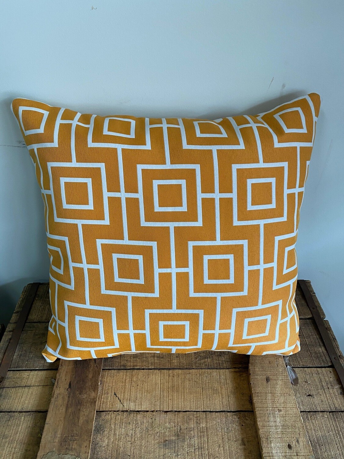 Outdoor scatter cushion - geometric print