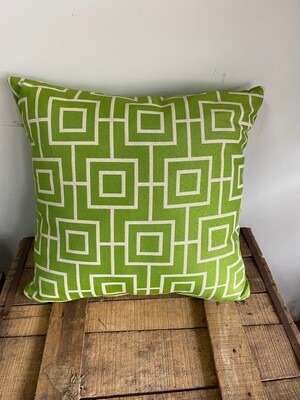 Geometric lime scatter cushions