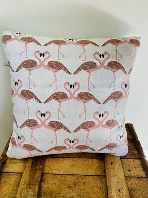 Outdoor scatter cushion - flamingo print