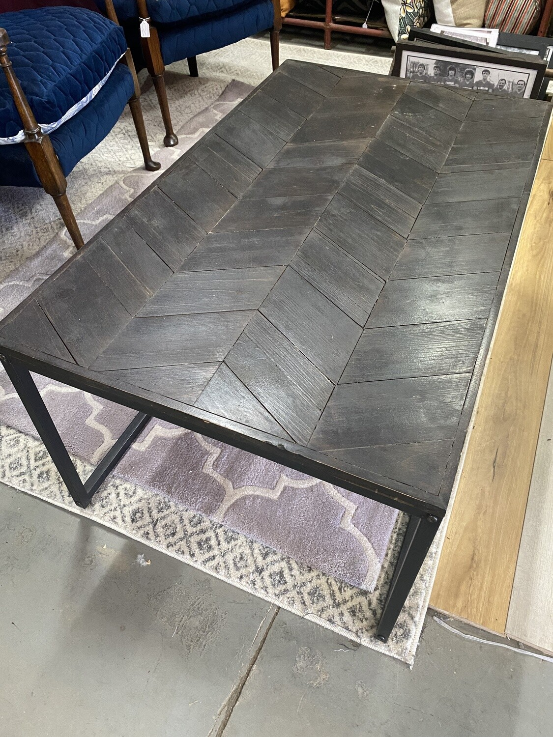 Coffee tables with herringbone feature
